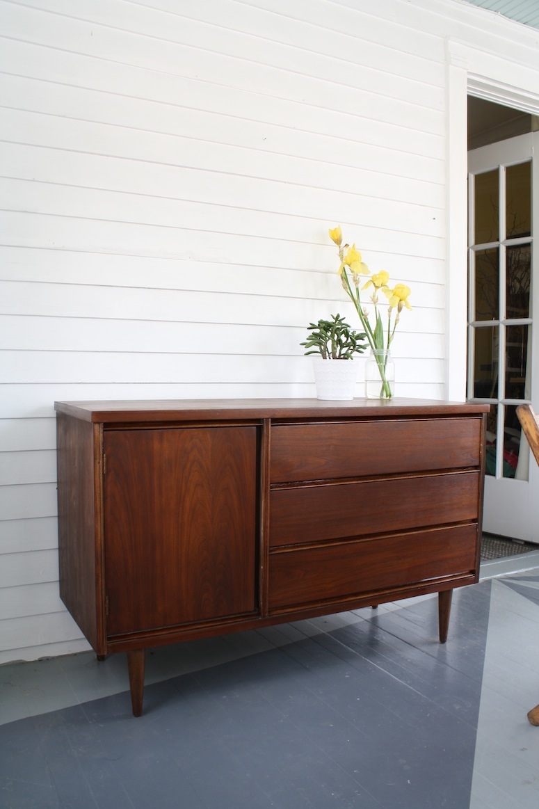 Our Refinished Bassett Mid Century Buffet! Complete!