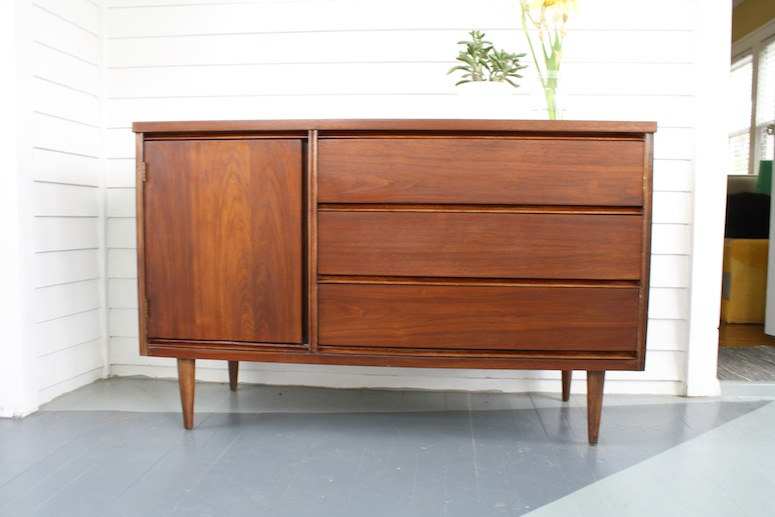 How To Our Refinish A Mid Century Modern Buffet Merrypad