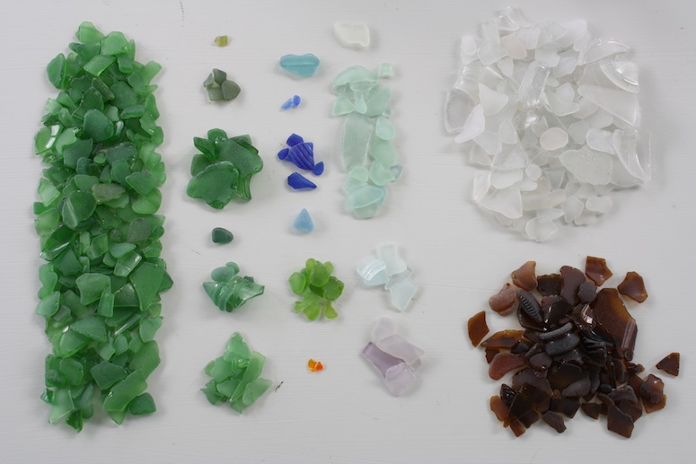 Lake Ontario Beach Glass, June 2012.
