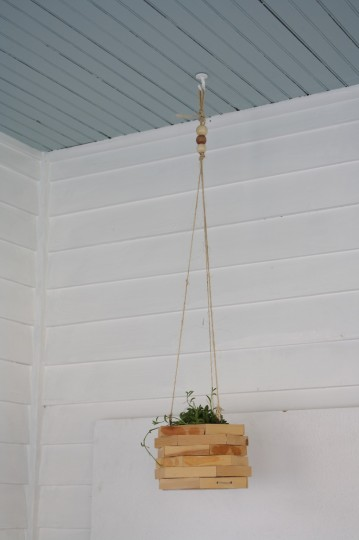 Hung: A unique hexagon planter.