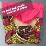#5: fold and staple corners of fabric.