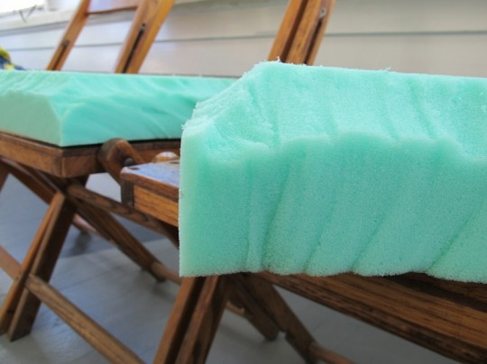 """I added a little bevel to the edge of the chair cushion to lessen the chance of it looking """"square""""."""