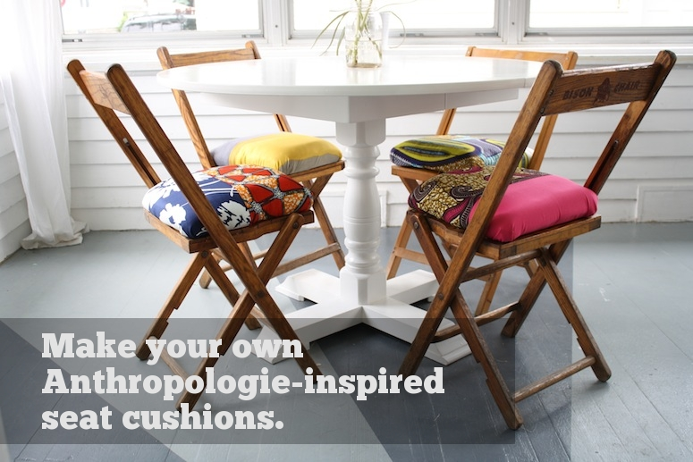 anthropologie inspired folding chair cushions merrypad