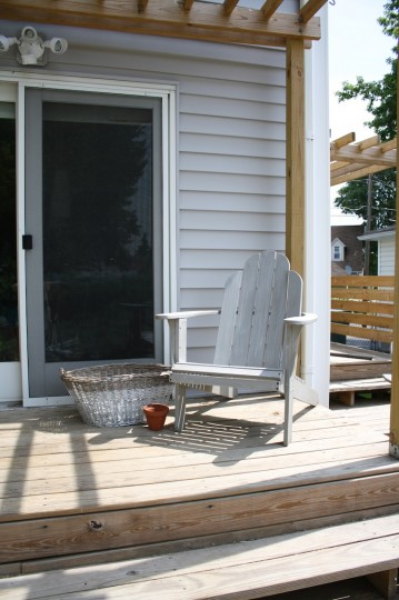 New adirondack chair. Perfect for drinks on the deck.