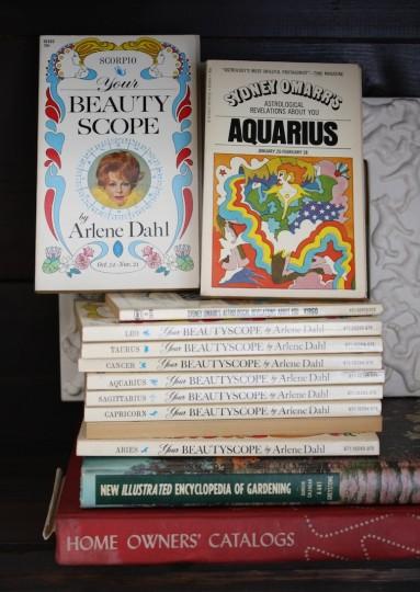 Grandma's vintage horoscope books.