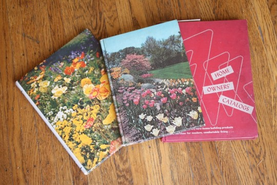 Vintage literature, topics: Home improvement and flowers!