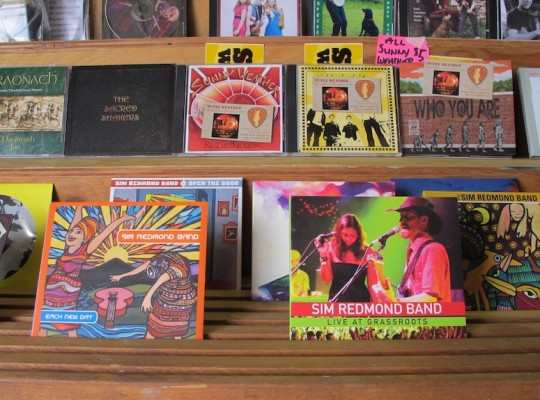 Albums for sale at Grassroots.