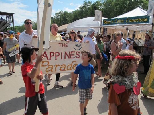 Happiness Parade at Grassroots!