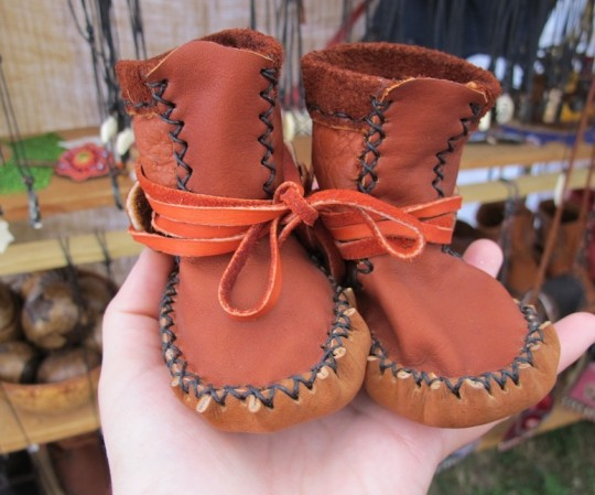 Baby Mocassins by Mexica Crafts at Finger Lakes Grassroots Festival.