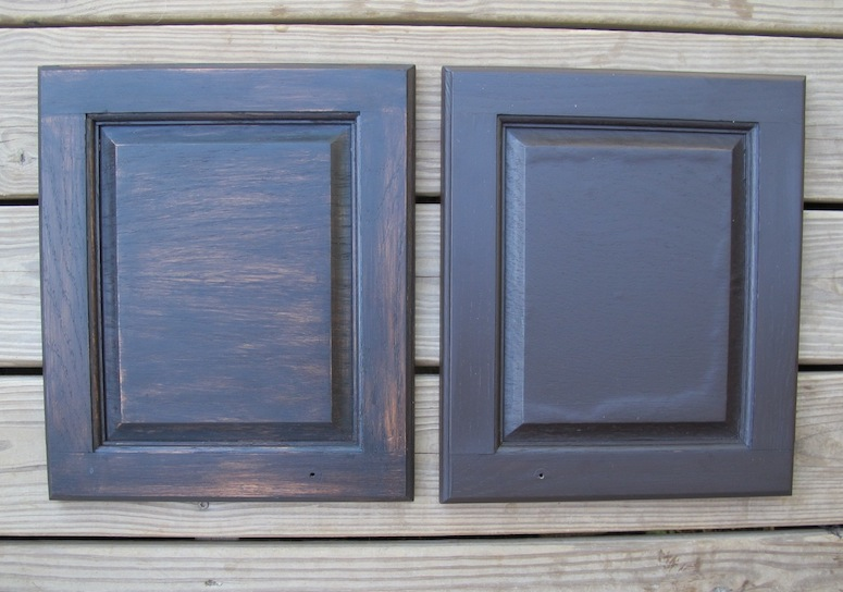 And The Gel Stain Pudding Worked Just Check Out Test 2 With Water Based General Finishes Wood Left Vs 3 Right