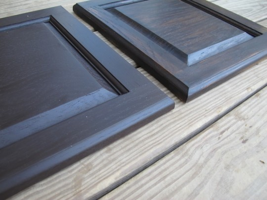 General Finishes Gel stain vs. water-based wood stain.