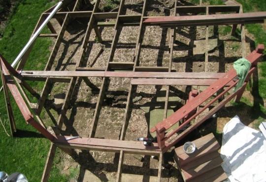 A deck skeleton mid-demo.