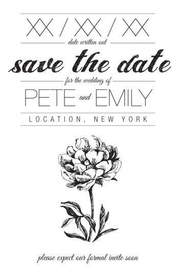 Our very special DIY'ed Save The Date.