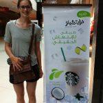 At Starbucks in Casablanca, Morocco.