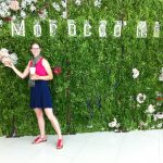 Posing with faux-peonies at Morocco Mall.