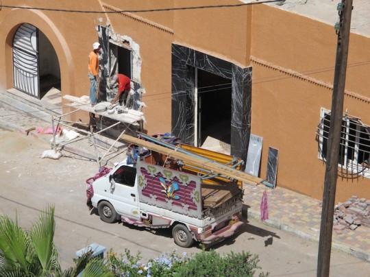 Construction crew in Casablanca, Morocco.