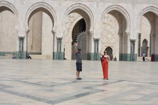 Pete and Erin at the Hassan II Mosque, Casablanca, Morocco.