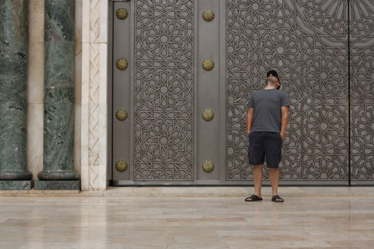 Pete at the Hassan II Mosque, Casablanca, Morocco.