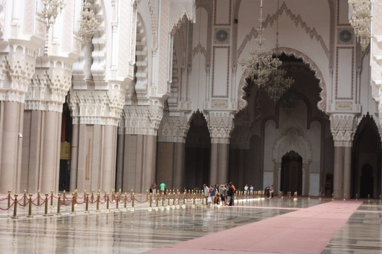 Inside Hassan II Mosque, Casablanca, Morocco.