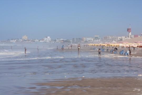 The expansive beaches of Casablanca, Morocco.