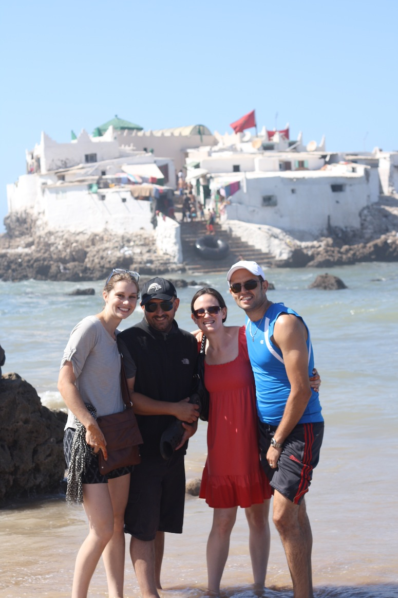 In front of the island of fortune tellers. Casablanca, Morocco.