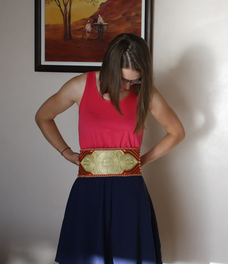 Pretending I'm all WWE.