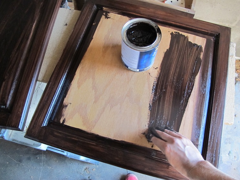 How To Refinish Oak Cabinets With Stain The Big Reveal Merrypad