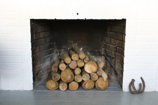 I love me some stacked logs in a fireplace.