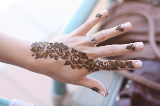 Moroccan henna before the wedding.