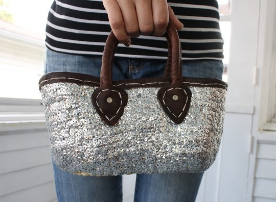 Sparkly little purse from Morocco.