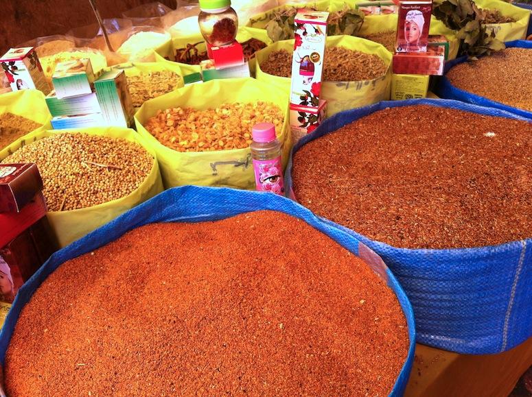 Spices in a Moroccan Souk.