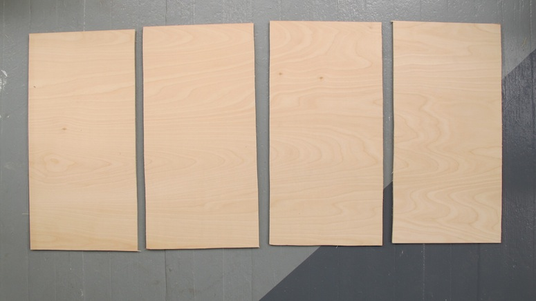 I was left with four rectangles for the four framed panels on the door.