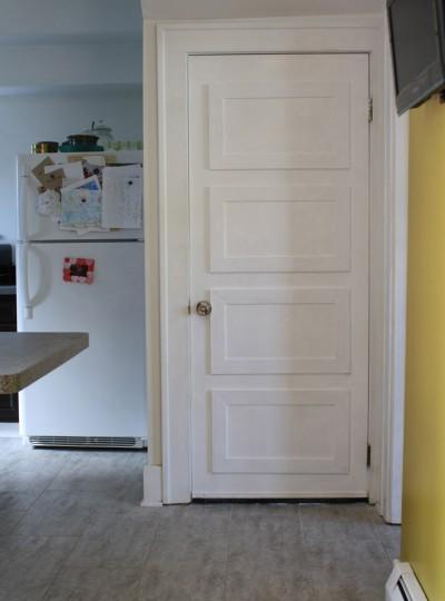 Wheee, look at our new basement door! Such a dramatic improvement over the unused pet door!