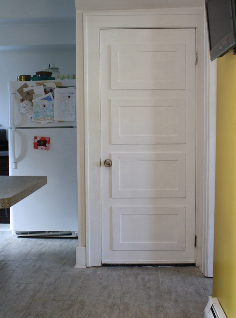 Wheee, look at our new basement door! Such a dramatic improvement over the unused pet door!