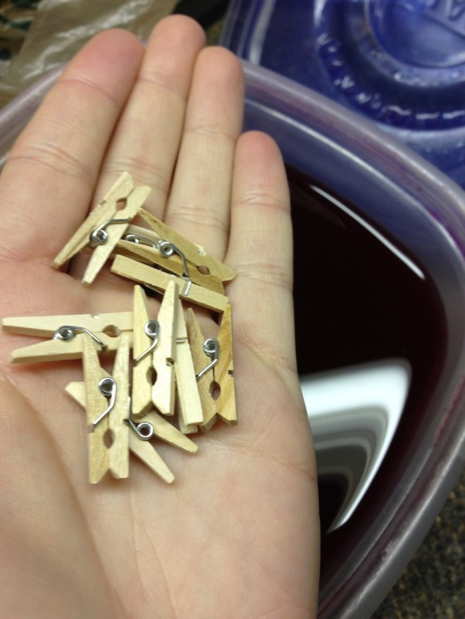 Sweet little clothespins!