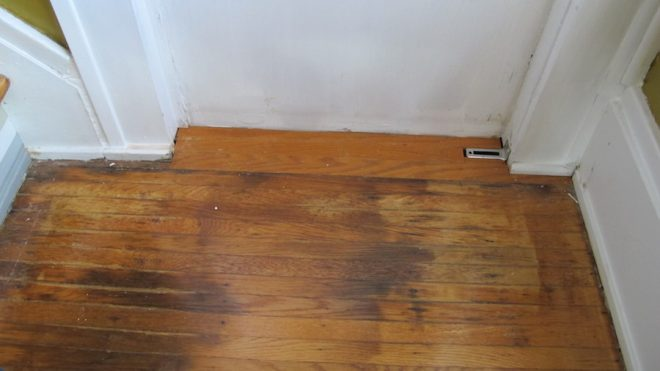 I patched new hardwoods in the stairwell. Is it obvious that they're in much better condition than the rest of the floor?