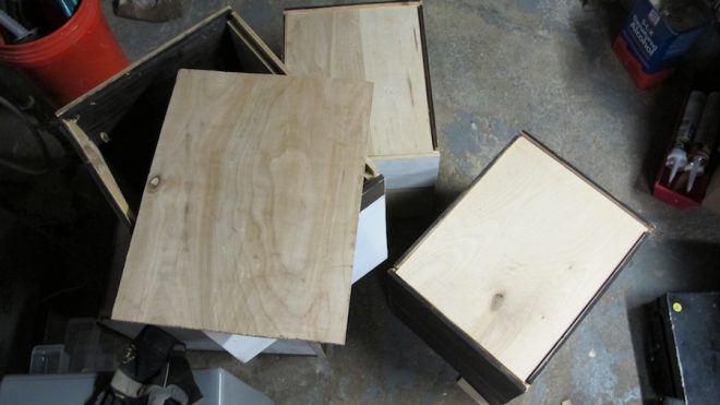 """1/4"""" birch worked well as a base for these drawers."""