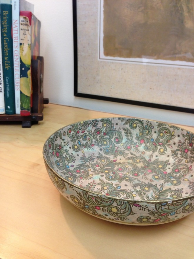 Loved this bowl sold at The Back Lot's booth at The Shops on West Ridge.