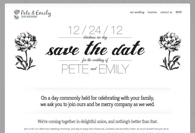 Welcome to our little DIY wedding website.