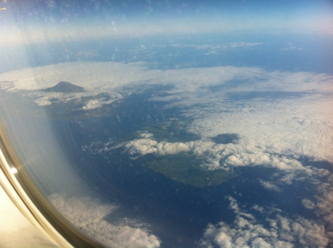 Azores from above, headed west.