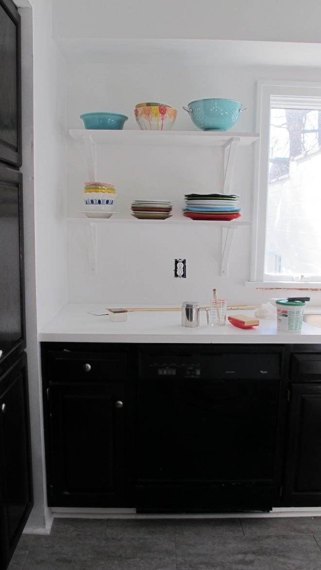 Rainbow plates (photo taken in the midst of redoing the kitchen backsplash).