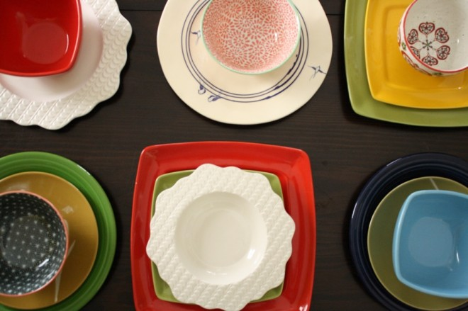 RIP, mismatched dishes.