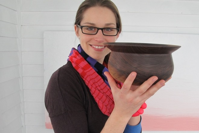 Black Walnut bowl by Sam Tischler.