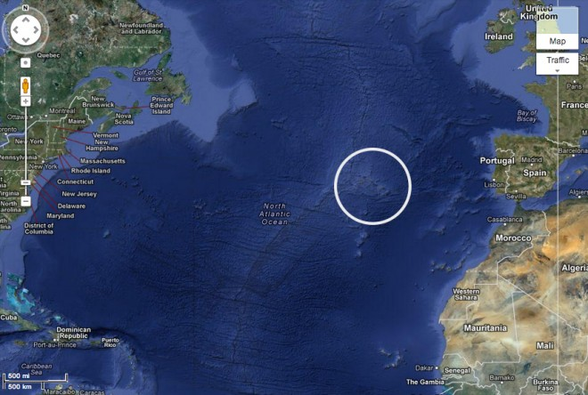 That's it, those are the Azores.