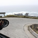 Hairpin turns (with no guard rails) in the Peugeot.