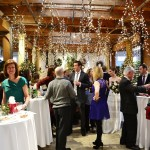 Guests at our Christmas Eve wedding.