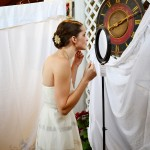 Our winter wedding. I used props from the store when I was getting ready. The sheets draped everywhere were from home.