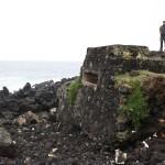 Lava rock beach in the Azores.