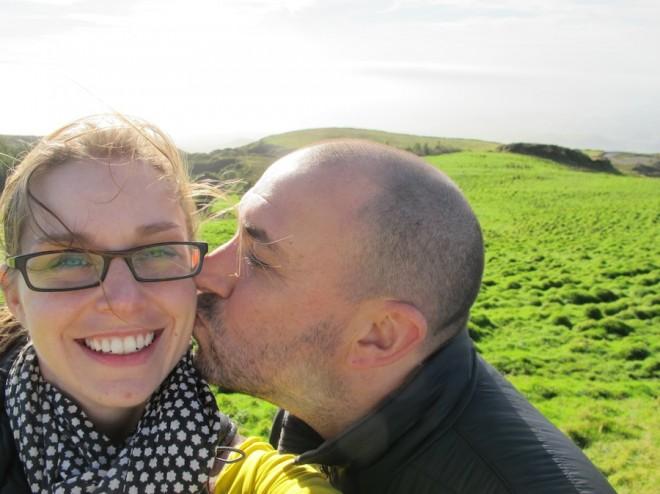 Pico de Barrosa, Sao Miguel, Azores with my honey.