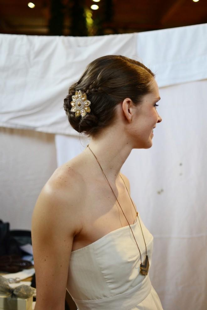 Voila, wedding hair on a budget.
